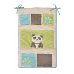 poche de rangement de lit pandi panda de domiva