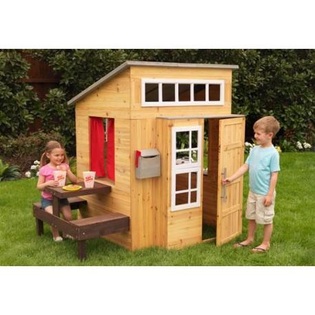 Cabane pour enfant d'extérieur en bois