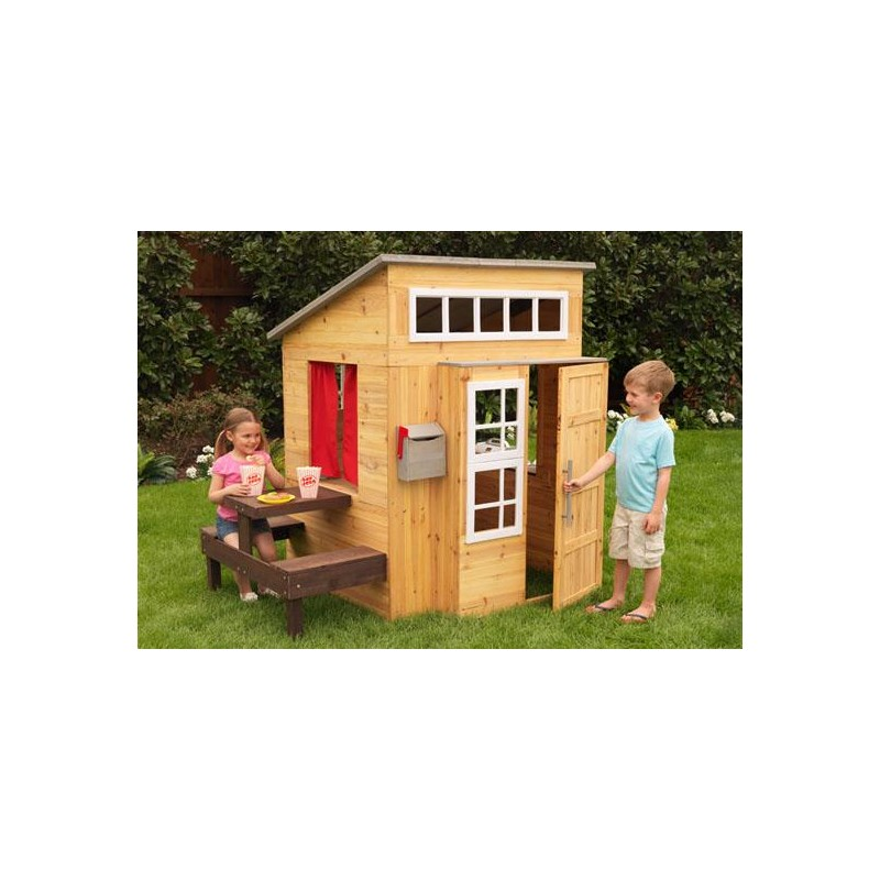 cabane pour enfant d 39 ext rieur en bois jeux de plein air. Black Bedroom Furniture Sets. Home Design Ideas