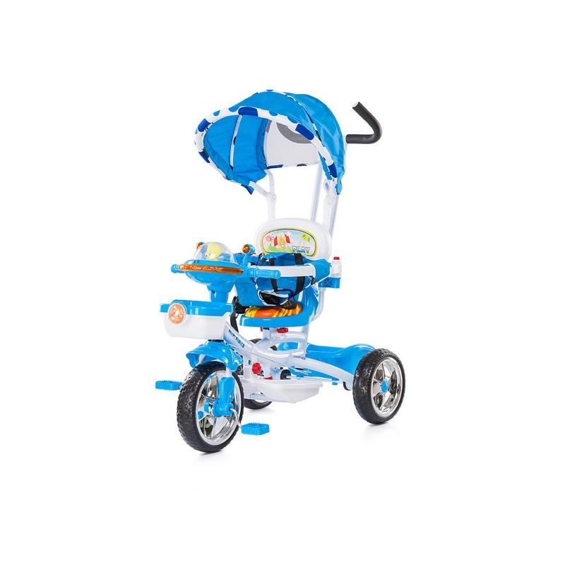 tricycle pour enfant volutif friends bleu avec capote. Black Bedroom Furniture Sets. Home Design Ideas