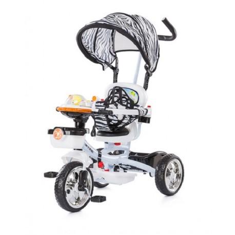 tricycle pour enfant volutif friends blanc avec capote. Black Bedroom Furniture Sets. Home Design Ideas