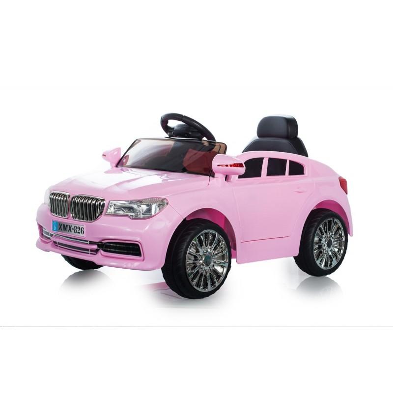 voiture lectrique berline style x5 rose voitures lectriques pour enfant. Black Bedroom Furniture Sets. Home Design Ideas