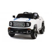 4X4 jeep électrique 2 places 12V blanche portes ouvrantes