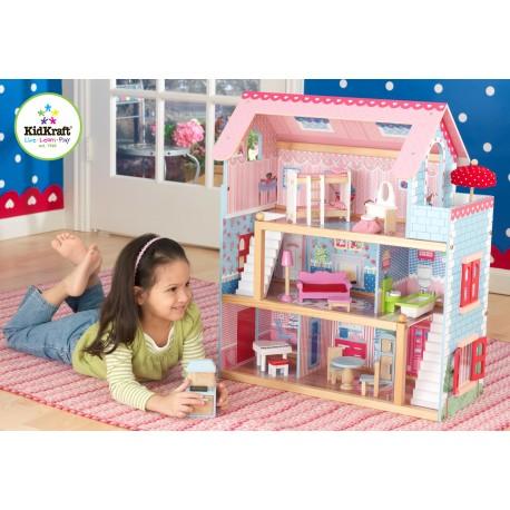 Maison de poupées chelsea avec ses 19 meubles