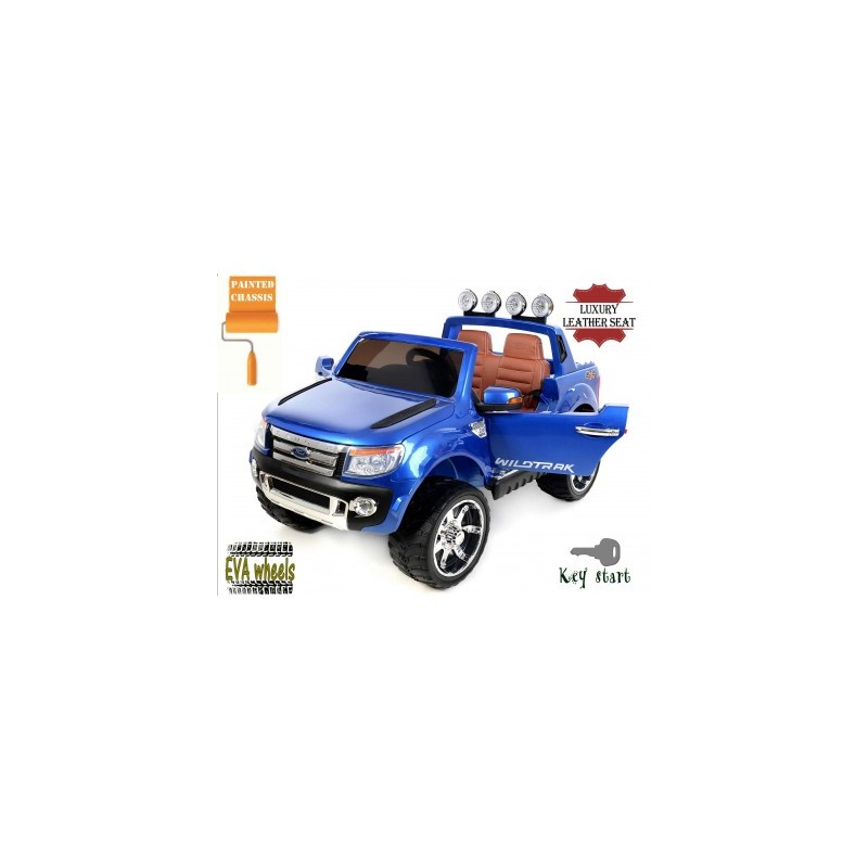 voiture lectrique ford ranger wildtrike deux places en cuir bleu. Black Bedroom Furniture Sets. Home Design Ideas