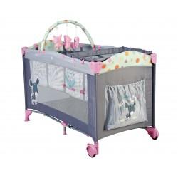 lit parapluie bleu gris hauteur r glable lit parapluie pour enfant. Black Bedroom Furniture Sets. Home Design Ideas
