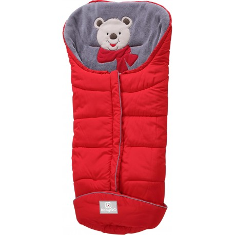 Chancelière Footmuff rouge ours