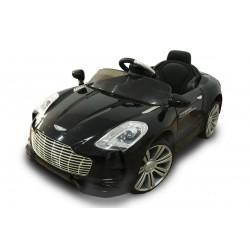 Voiture électrique style V8 12V noire - voiture électrique pour enfant