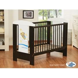 Lit bébé bonne nuit bleu + matelas