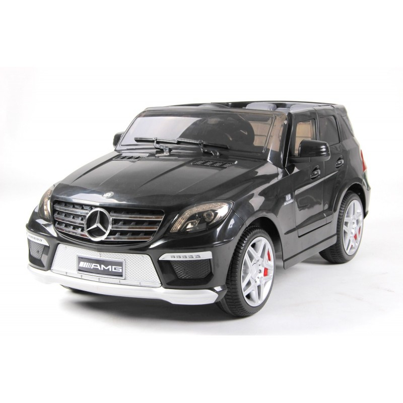 voiture lectrique pour enfant mercedes ml63 amg noire. Black Bedroom Furniture Sets. Home Design Ideas