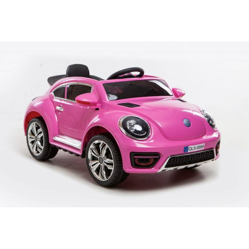 voiture lectrique new beetle rose voiture 12v pour enfant. Black Bedroom Furniture Sets. Home Design Ideas