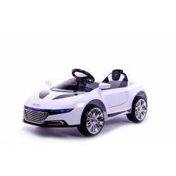 Voiture électrique Style R8 sport 12 V blanche- voiture électrique pour enfant