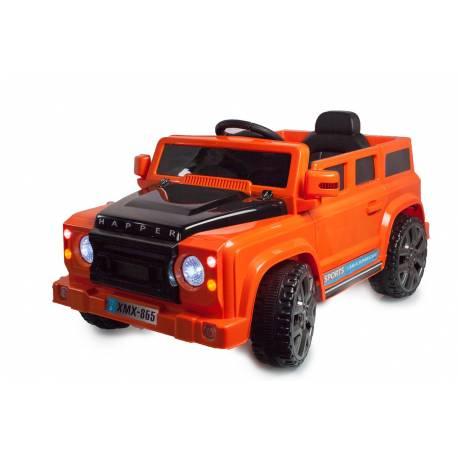 4x4 électrique style Défender orange 12V