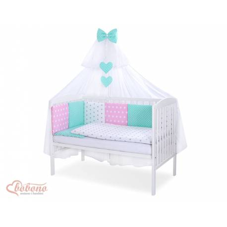 Parure de lit bébé complète Color mix Set 36