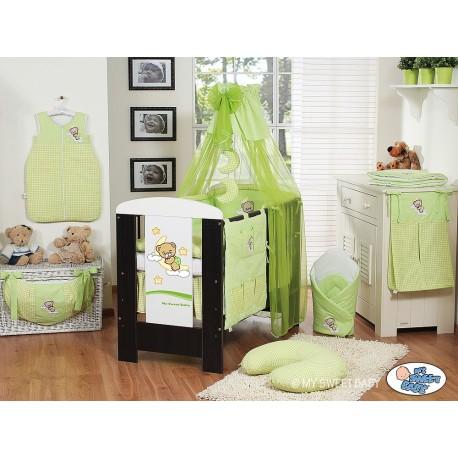 Parure de lit bébé bonne nuit vert