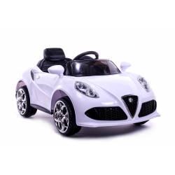 Voiture électrique style 4C blanche - voiture électrique pour enfant
