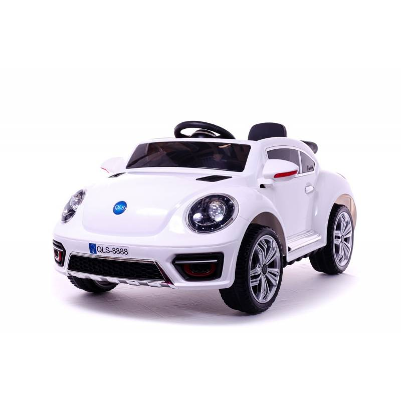 voiture lectrique new beetle blanche voiture 12v pour enfant. Black Bedroom Furniture Sets. Home Design Ideas