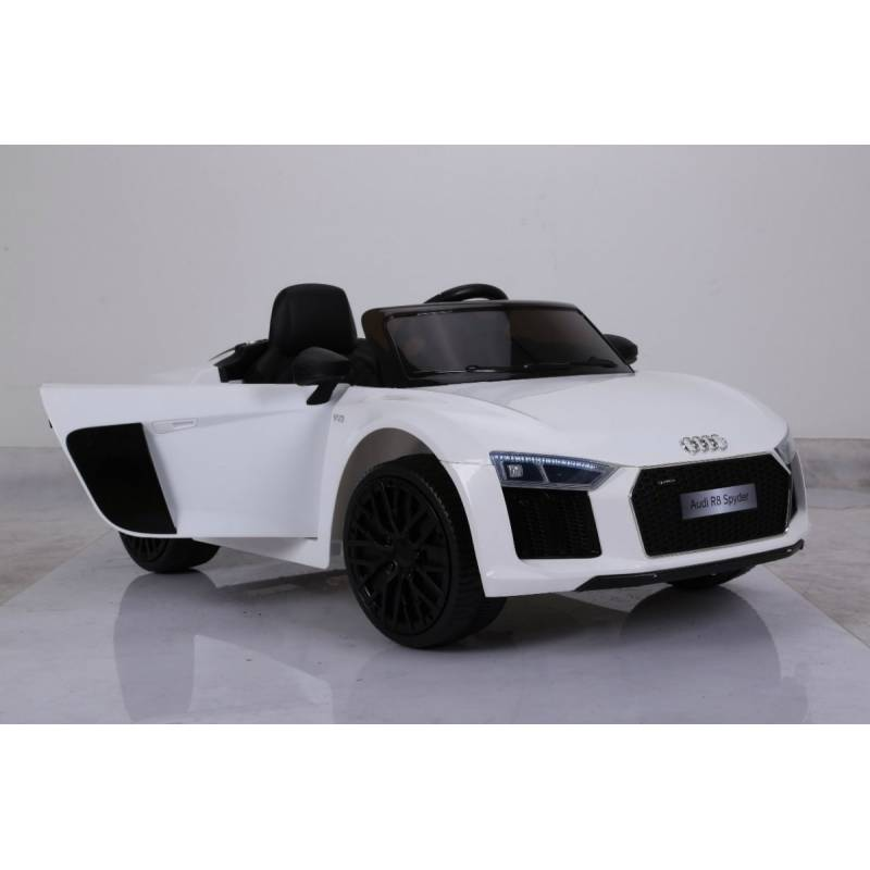 voiture lectrique pour enfant audi r8 spyder rs blanche. Black Bedroom Furniture Sets. Home Design Ideas