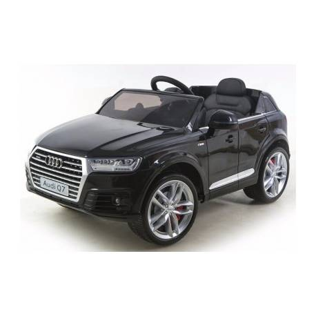 voiture lectrique pour enfant audi q7 noire. Black Bedroom Furniture Sets. Home Design Ideas