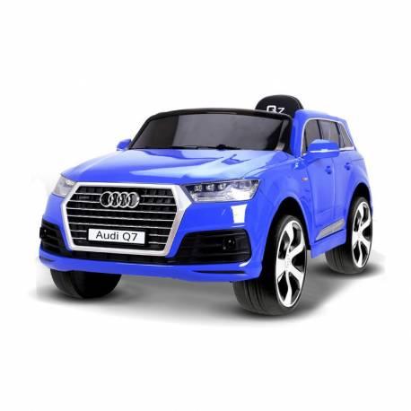 Voiture électrique pour enfant Audi Q7 métallisée bleue