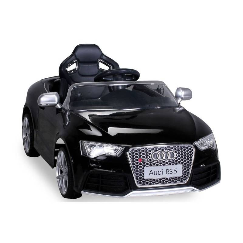 voiture lectrique pour enfant audi rs5 noire. Black Bedroom Furniture Sets. Home Design Ideas