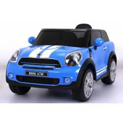 Voiture électrique pour enfant Mini Paceman JCW 12V bleue