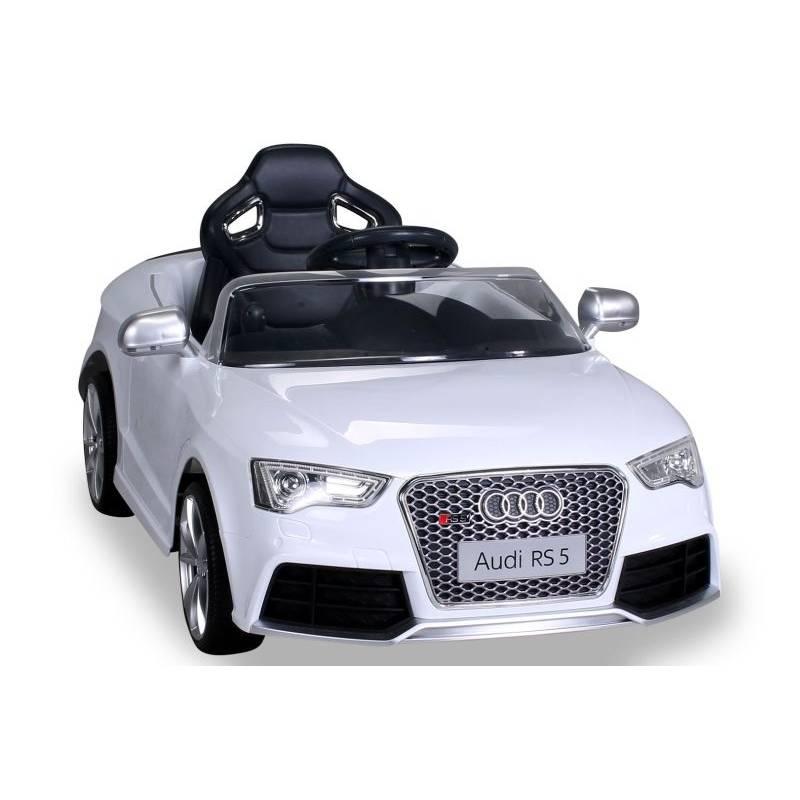 voiture électrique pour enfant audi rs5 métallisée blanche