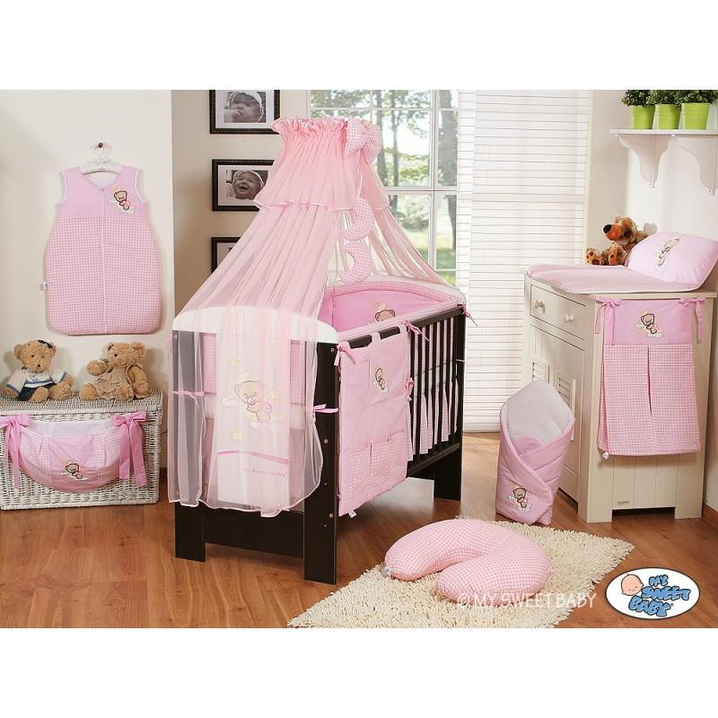 ensemble linge de lit bébé Lit et parure de lit bébé bonne nuit rose   mobilier de chambre bébé ensemble linge de lit bébé