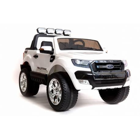 voiture lectrique ford ranger wildtrike blanche deux places bluetooth. Black Bedroom Furniture Sets. Home Design Ideas