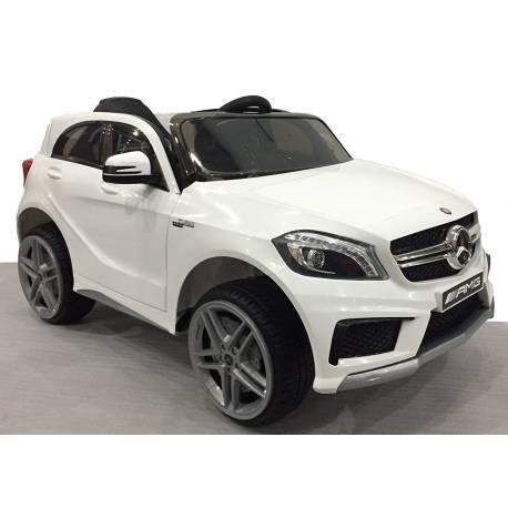 Voiture électrique pour enfant Mercedes Benz A45 AMG blanche