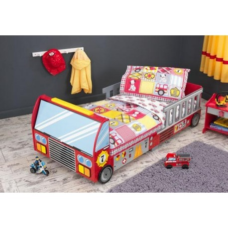 lit camion de pompier lit enfant. Black Bedroom Furniture Sets. Home Design Ideas