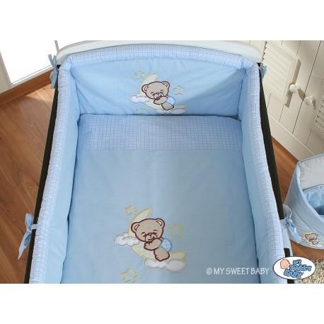 lit et parure de lit b b bonne nuit bleu mobilier de chambre b b. Black Bedroom Furniture Sets. Home Design Ideas