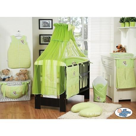 Lit et Parure de lit bébé bonne nuit vert