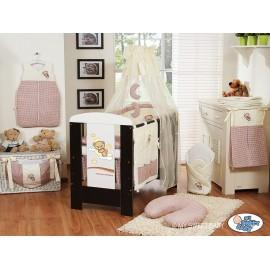 Lit et Parure de lit bébé bonne nuit beige marron