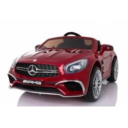 Voiture électrique pour enfant Mercedes SL65 rouge métallisée