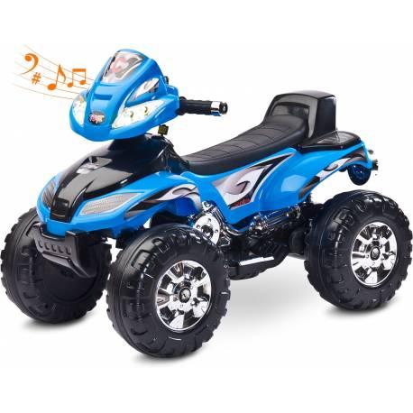 quad électrique pour enfant Cuatro bleu
