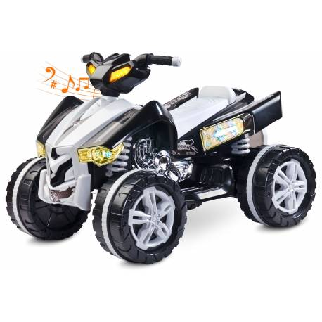 quad électrique pour enfant Cuatro gris