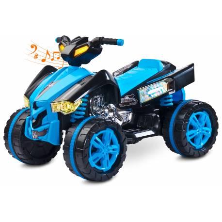 quad électrique pour enfant Raptor bleu