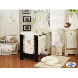 Lit et Parure de lit bébé bonne nuit crème