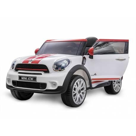 voiture lectrique pour enfant mini cooper paceman12 v blanc. Black Bedroom Furniture Sets. Home Design Ideas