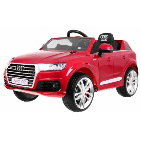 Voiture électrique pour enfant Audi Q7 métallisée rouge