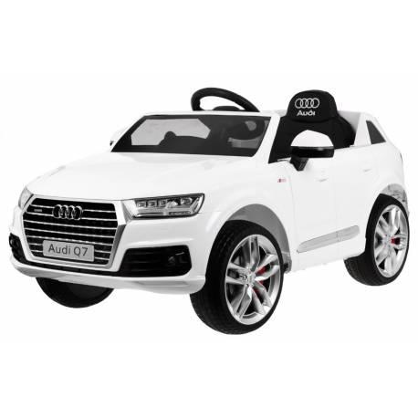Voiture électrique pour enfant Audi Q7 S Line peinture blanche - pack luxe