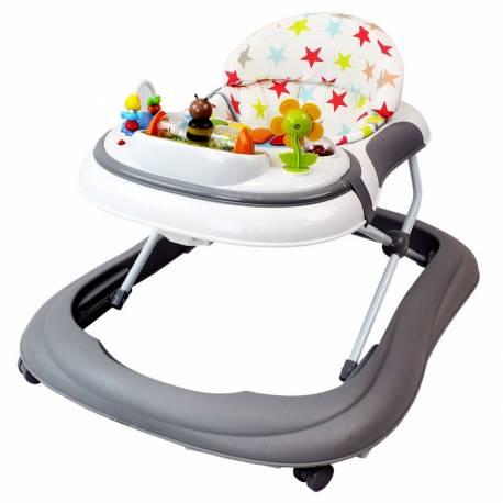 Trotteur pour bébé Etoile gris