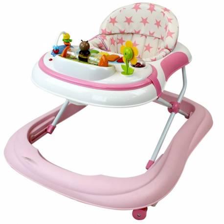 Trotteur pour bébé Etoile rose