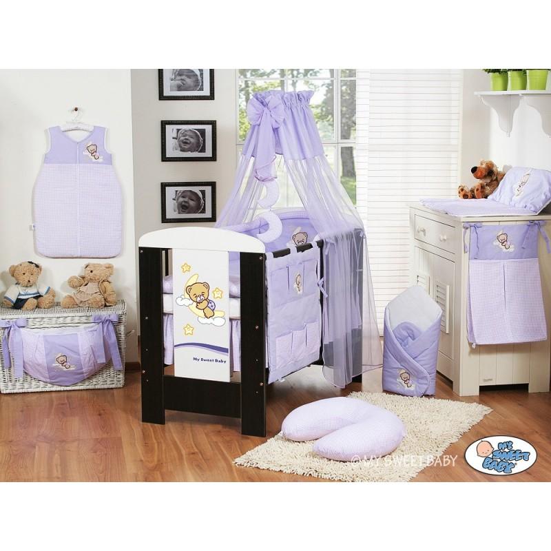 lit et parure de lit b b bonne nuit violet mobilier chambre b b. Black Bedroom Furniture Sets. Home Design Ideas