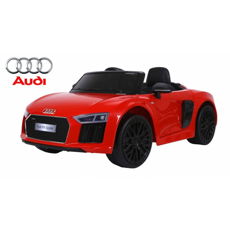 voiture lectrique pour enfant audi r8 spyder rouge. Black Bedroom Furniture Sets. Home Design Ideas