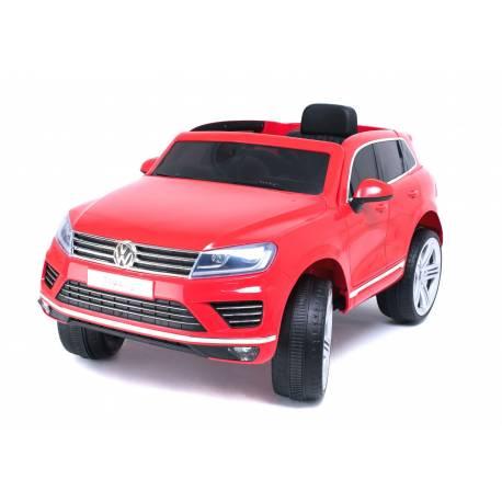 voiture électrique Touareg Volkswagen rouge