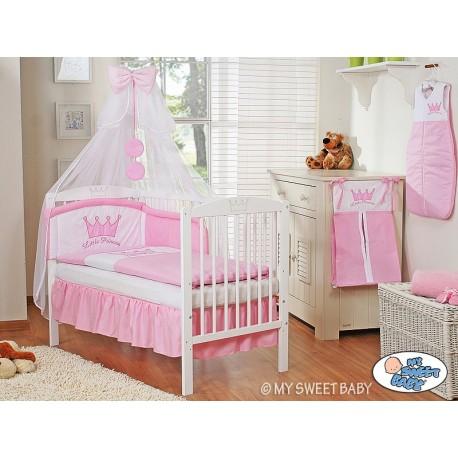 Lit et Parure de lit bébé prince ou princesse rose