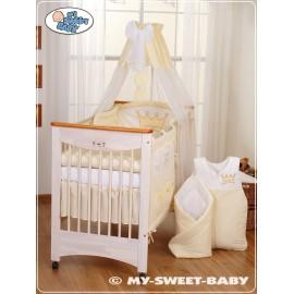 Parure de lit bébé prince ou princesse crème