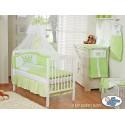Lit et Parure de lit bébé prince ou princesse vert